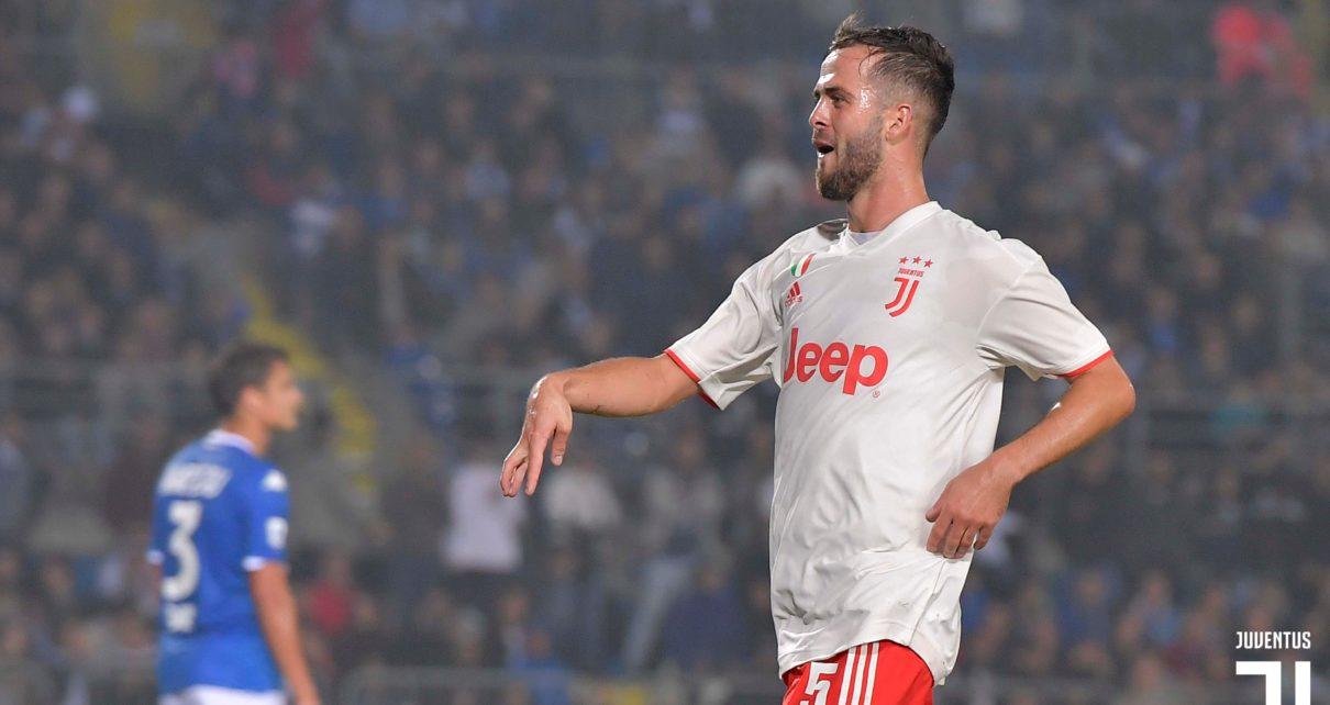 Juventus, il centrocampista Miralem Pjanic
