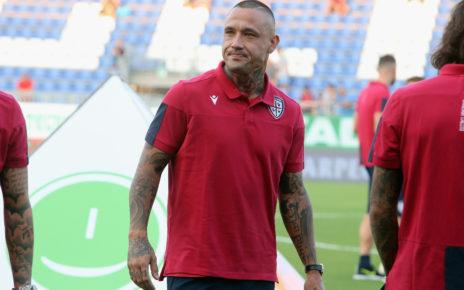 Cagliari, il centrocampista Radja Nainggolan