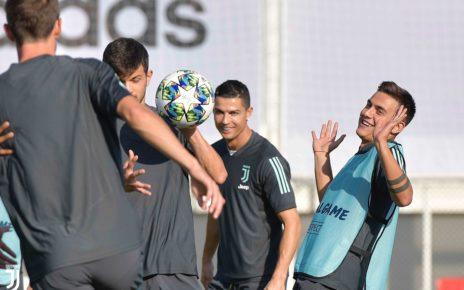 Juventus, l'allenamento di rifinitura per il match contro il Leverkusen